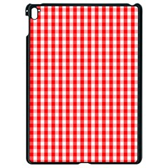 Christmas Red Velvet Large Gingham Check Plaid Pattern Apple Ipad Pro 9 7   Black Seamless Case