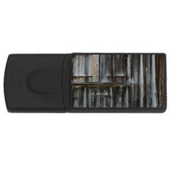 Alpine Hut Almhof Old Wood Grain Usb Flash Drive Rectangular (4 Gb) by BangZart