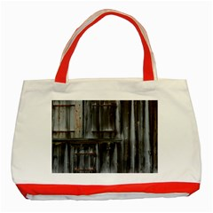 Alpine Hut Almhof Old Wood Grain Classic Tote Bag (red) by BangZart