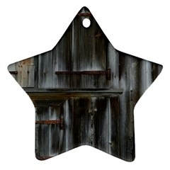 Alpine Hut Almhof Old Wood Grain Star Ornament (two Sides) by BangZart
