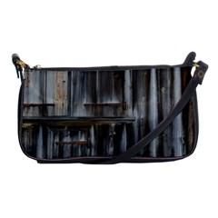 Alpine Hut Almhof Old Wood Grain Shoulder Clutch Bags by BangZart