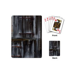Alpine Hut Almhof Old Wood Grain Playing Cards (mini)  by BangZart