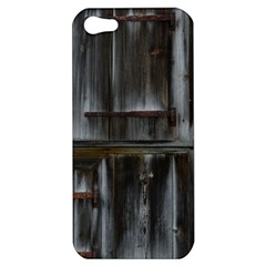 Alpine Hut Almhof Old Wood Grain Apple Iphone 5 Hardshell Case by BangZart