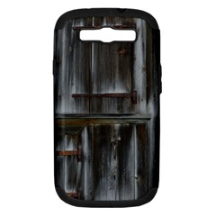 Alpine Hut Almhof Old Wood Grain Samsung Galaxy S Iii Hardshell Case (pc+silicone) by BangZart
