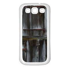 Alpine Hut Almhof Old Wood Grain Samsung Galaxy S3 Back Case (white) by BangZart