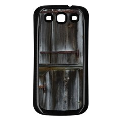 Alpine Hut Almhof Old Wood Grain Samsung Galaxy S3 Back Case (black) by BangZart