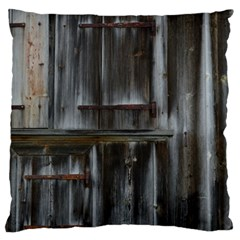 Alpine Hut Almhof Old Wood Grain Large Flano Cushion Case (two Sides) by BangZart