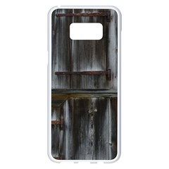 Alpine Hut Almhof Old Wood Grain Samsung Galaxy S8 Plus White Seamless Case by BangZart