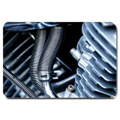 Motorcycle Details Large Doormat  by BangZart