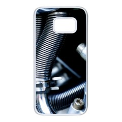 Motorcycle Details Samsung Galaxy S7 White Seamless Case by BangZart