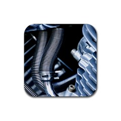 Motorcycle Details Rubber Coaster (square)  by BangZart