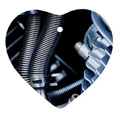 Motorcycle Details Heart Ornament (two Sides) by BangZart