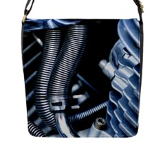 Motorcycle Details Flap Messenger Bag (l)  by BangZart