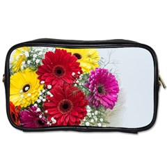 Flowers Gerbera Floral Spring Toiletries Bags by BangZart