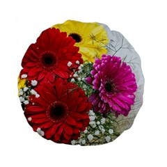 Flowers Gerbera Floral Spring Standard 15  Premium Round Cushions by BangZart