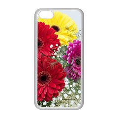 Flowers Gerbera Floral Spring Apple Iphone 5c Seamless Case (white) by BangZart