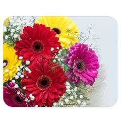 Flowers Gerbera Floral Spring Double Sided Flano Blanket (medium)  by BangZart
