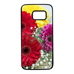 Flowers Gerbera Floral Spring Samsung Galaxy S7 Black Seamless Case by BangZart
