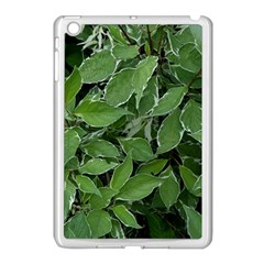 Texture Leaves Light Sun Green Apple Ipad Mini Case (white)
