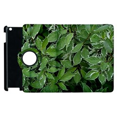Texture Leaves Light Sun Green Apple Ipad 2 Flip 360 Case by BangZart