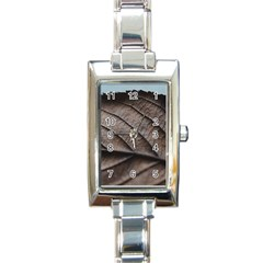 Leaf Veins Nerves Macro Closeup Rectangle Italian Charm Watch by BangZart