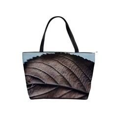 Leaf Veins Nerves Macro Closeup Shoulder Handbags by BangZart