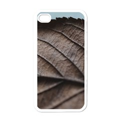Leaf Veins Nerves Macro Closeup Apple Iphone 4 Case (white) by BangZart