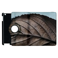 Leaf Veins Nerves Macro Closeup Apple Ipad 3/4 Flip 360 Case by BangZart