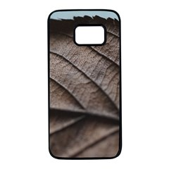 Leaf Veins Nerves Macro Closeup Samsung Galaxy S7 Black Seamless Case by BangZart