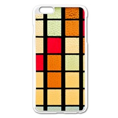 Mozaico Colors Glass Church Color Apple Iphone 6 Plus/6s Plus Enamel White Case