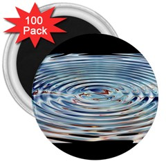 Wave Concentric Waves Circles Water 3  Magnets (100 Pack)