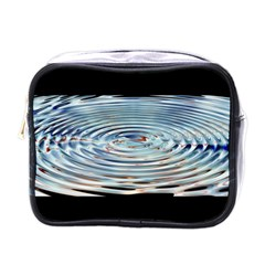 Wave Concentric Waves Circles Water Mini Toiletries Bags by BangZart