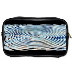 Wave Concentric Waves Circles Water Toiletries Bags 2 Side by BangZart