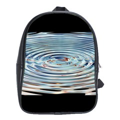Wave Concentric Waves Circles Water School Bags (xl)  by BangZart