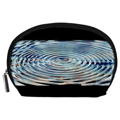 Wave Concentric Waves Circles Water Accessory Pouches (large)  by BangZart