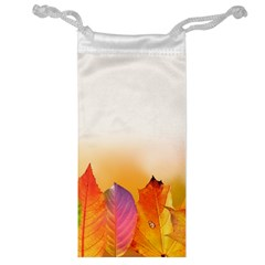 Autumn Leaves Colorful Fall Foliage Jewelry Bag by BangZart