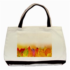 Autumn Leaves Colorful Fall Foliage Basic Tote Bag by BangZart