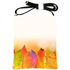 Autumn Leaves Colorful Fall Foliage Shoulder Sling Bags by BangZart