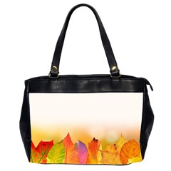 Autumn Leaves Colorful Fall Foliage Office Handbags (2 Sides)  by BangZart