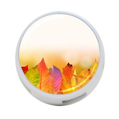 Autumn Leaves Colorful Fall Foliage 4 Port Usb Hub (two Sides)  by BangZart