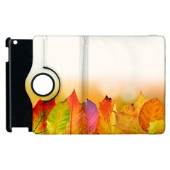 Autumn Leaves Colorful Fall Foliage Apple Ipad 3/4 Flip 360 Case by BangZart