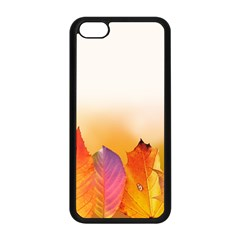 Autumn Leaves Colorful Fall Foliage Apple Iphone 5c Seamless Case (black) by BangZart