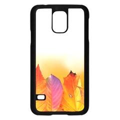 Autumn Leaves Colorful Fall Foliage Samsung Galaxy S5 Case (black) by BangZart