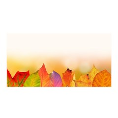 Autumn Leaves Colorful Fall Foliage Satin Wrap by BangZart