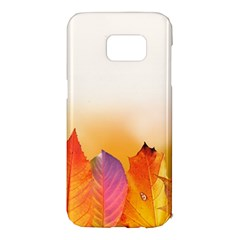 Autumn Leaves Colorful Fall Foliage Samsung Galaxy S7 Edge Hardshell Case by BangZart