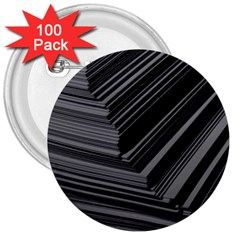 Paper Low Key A4 Studio Lines 3  Buttons (100 Pack)  by BangZart