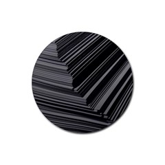 Paper Low Key A4 Studio Lines Rubber Coaster (round)
