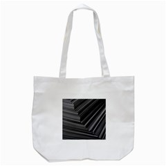 Paper Low Key A4 Studio Lines Tote Bag (white) by BangZart