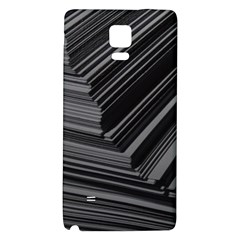 Paper Low Key A4 Studio Lines Galaxy Note 4 Back Case by BangZart