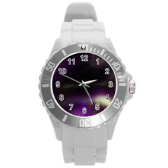 The Northern Lights Nature Round Plastic Sport Watch (l) by BangZart